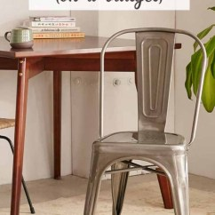 Cafe Chairs Metal Small Circular Dining Table And Industrial Farmhouse Style {on A Budget}