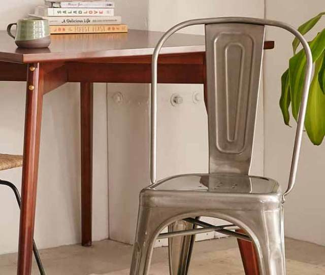 Love Industrial Farmhouse Style Metal Chairs Get The Look On A Budget