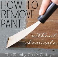 Remove paint from furniture without chemicals (step