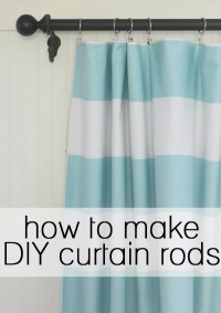 how to make your own curtain rod | Integralbook.com