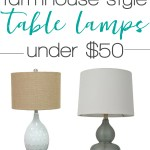 Farmhouse Style Lamps 25 Lamps Under 50