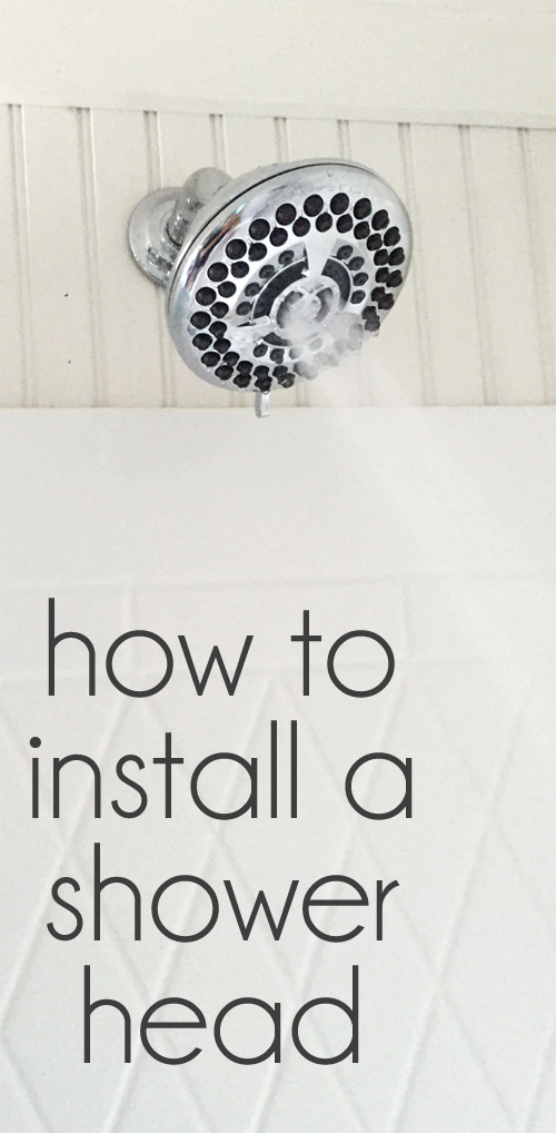 Shower head 101 How to install a shower head in under 5 mins