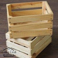 Wood crate project: rolling cart in half an hour