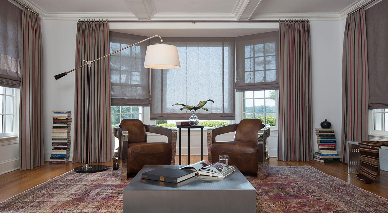 Ideas for Bay Window Treatments