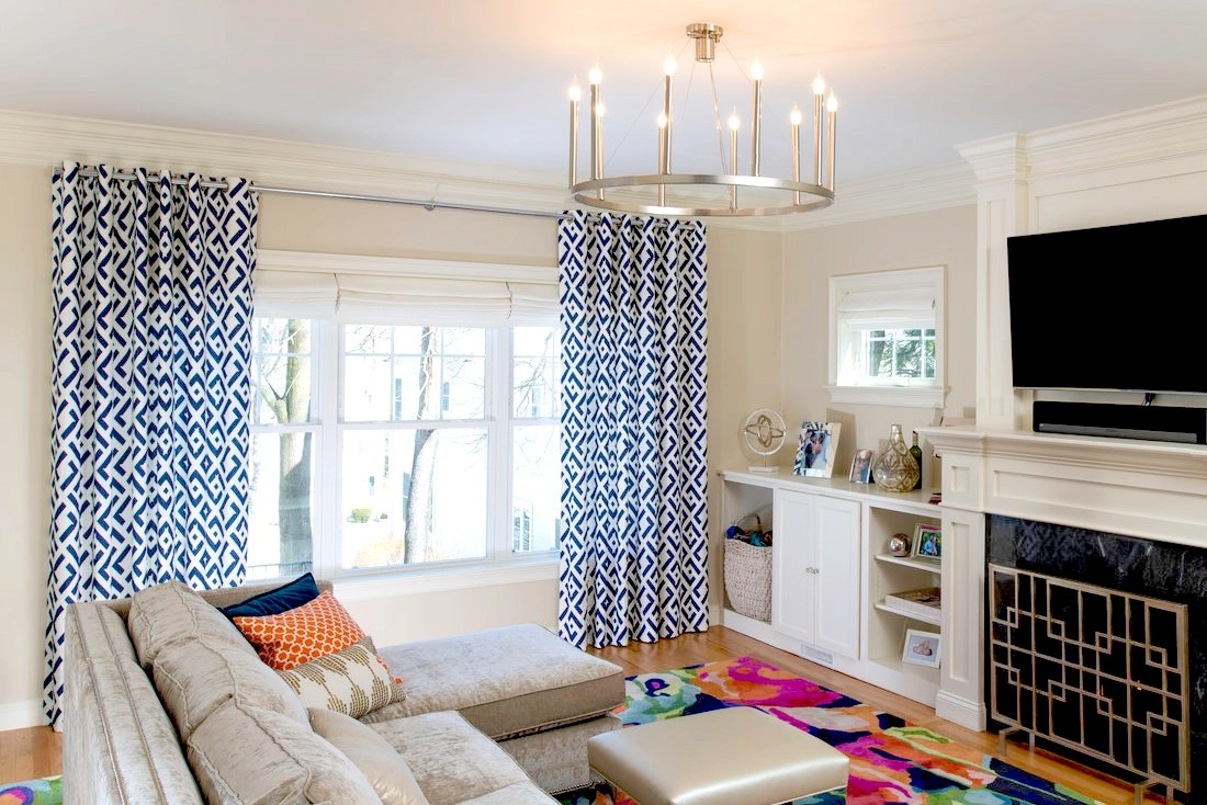 curtain color ideas living room how to decorate a and dining combination the shade store blog