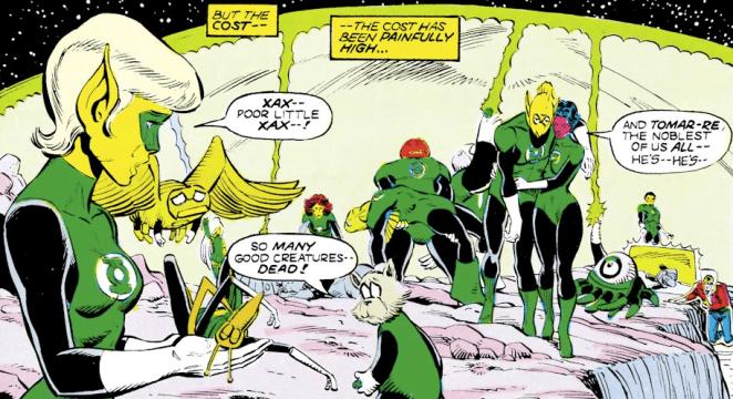 Green Lantern Xax dies