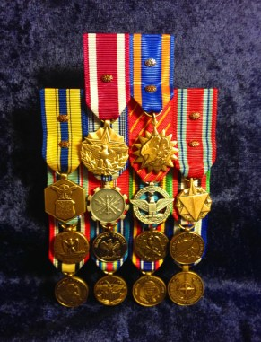 Flat Mounted Mini Medals