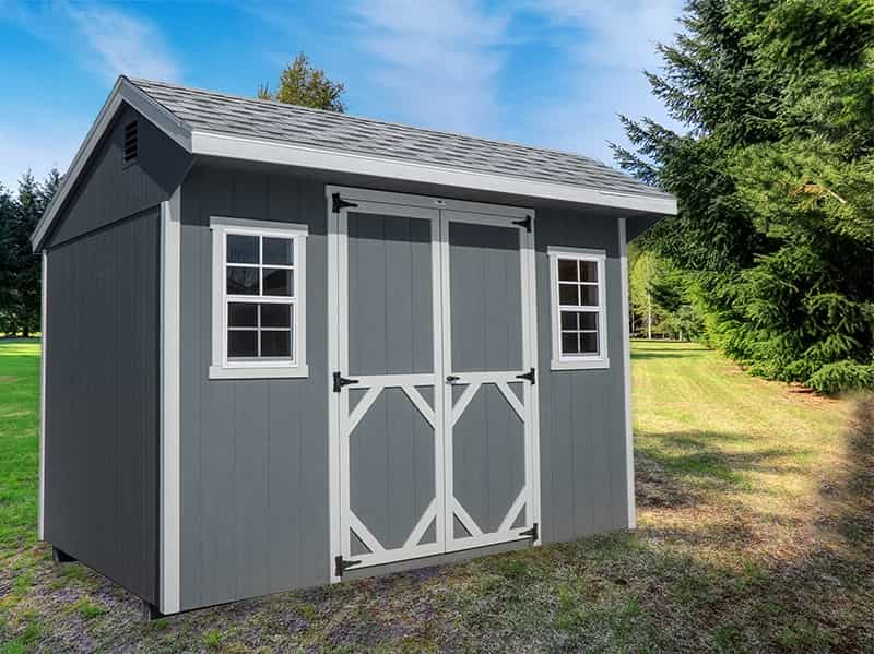 Quaker shed Gray