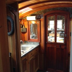 Kitchen Sink Materials Hood Design Interior Photos Of Greg Ryan's Gypsy Wagon - The Shelter Blog