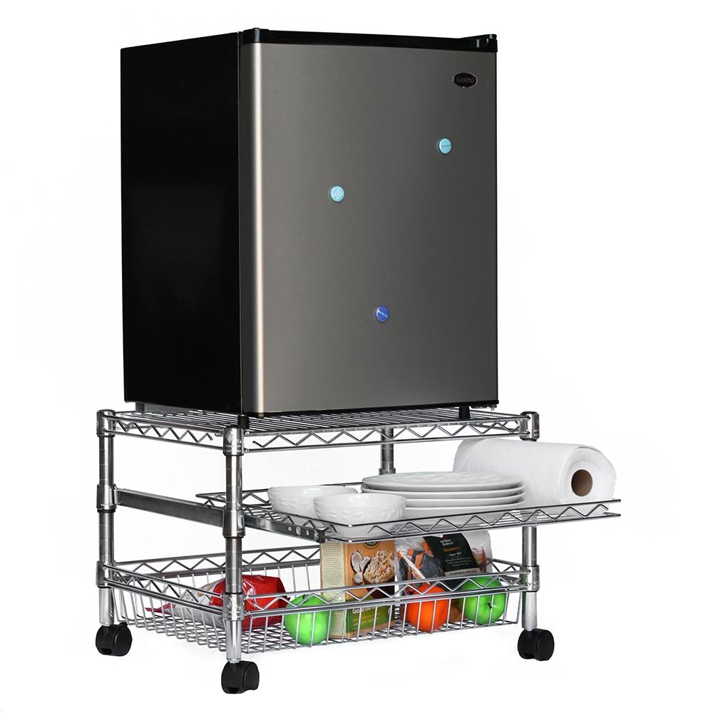 mini fridge cart for dorms