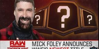 il titolo svelato da Mick Foley