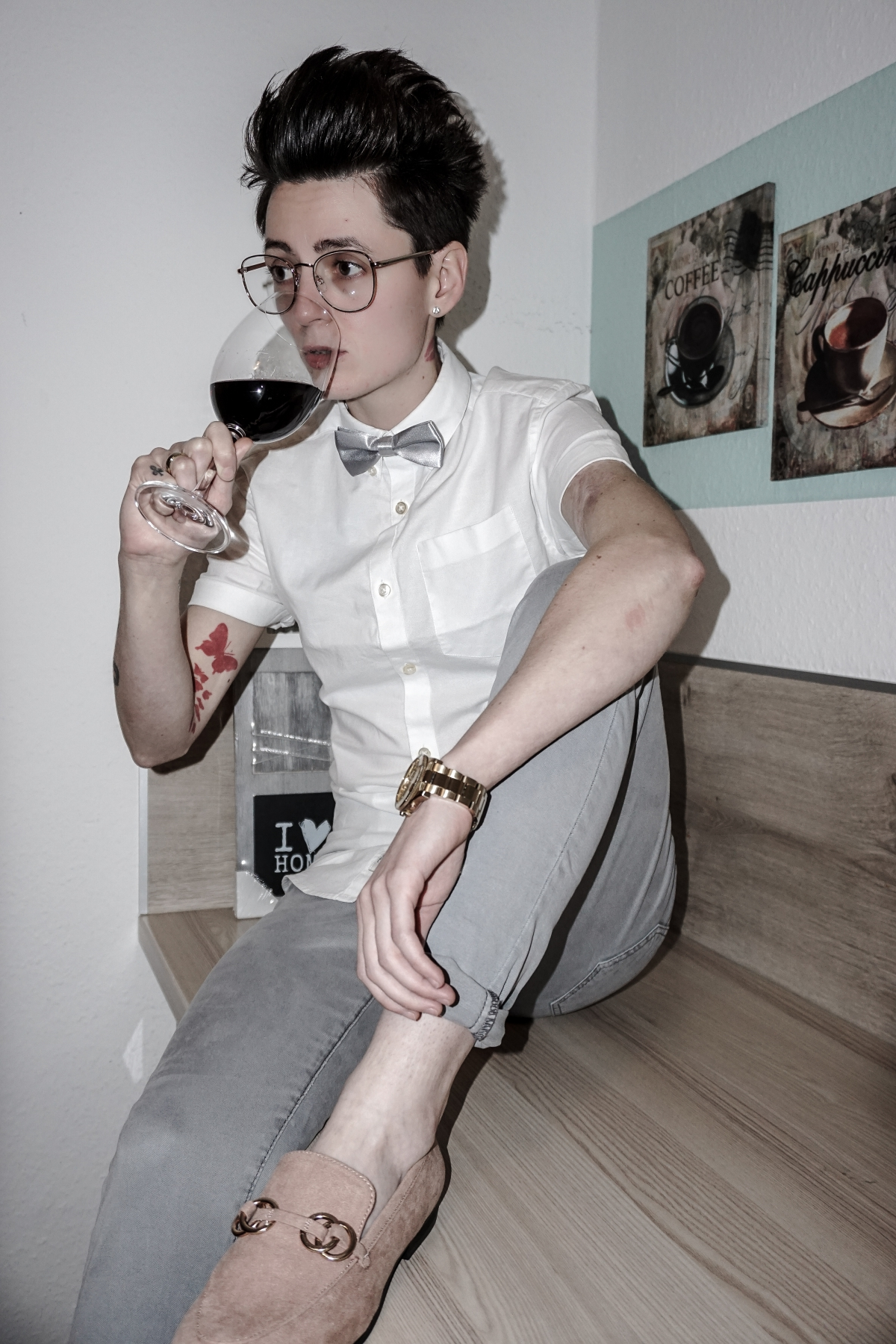 androgynous dapper style