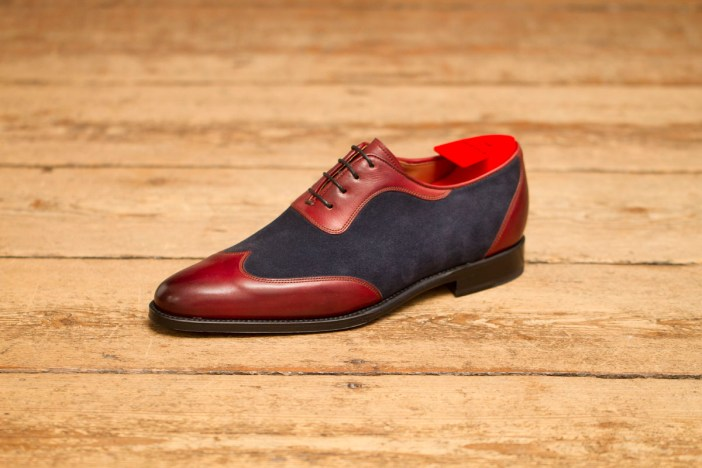 Two toned model by J.FitzPatrick Footwear