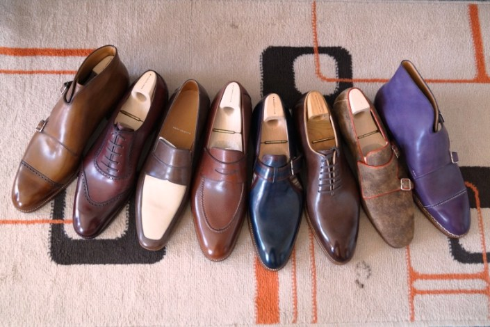 Saint Crispsins lasted shoe trees, above and below