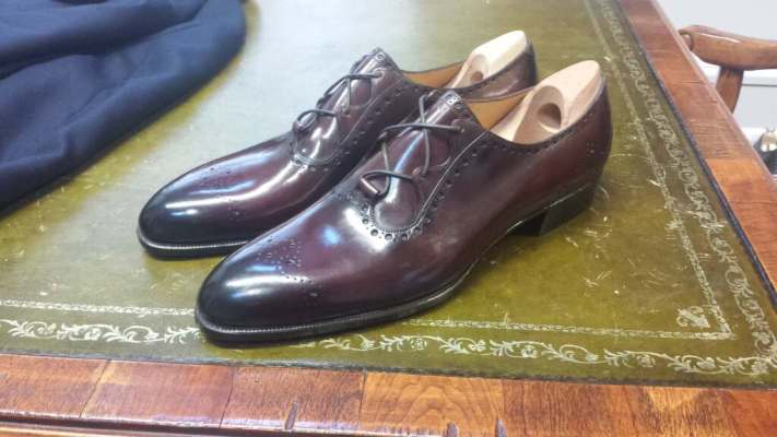 Handwelted, bespoke Gaziano & Girling shoes