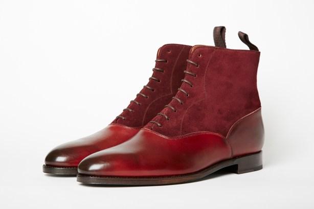 J.FitzPatrick Wedgwood Balmoral boot burgundy calf