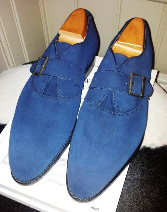 Blue Suede Monks by JM Weston