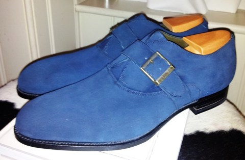 Blue Suede Monks by JM Weston