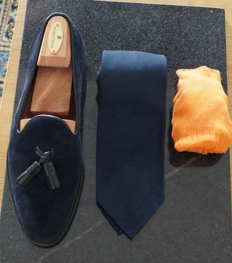 Ravenna Tassel Loafer Navy Suede