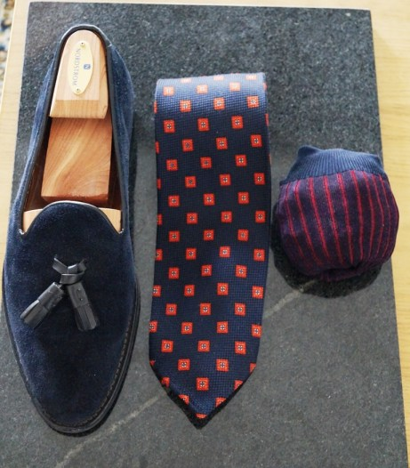 Ravenna Tassel Loafer Navy Suede 1