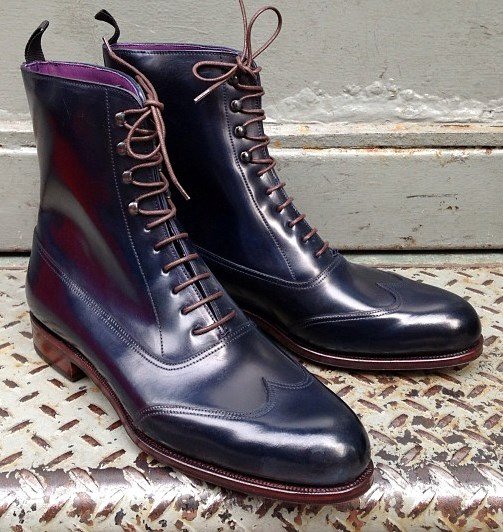 Navy Shell Balmoral Boot
