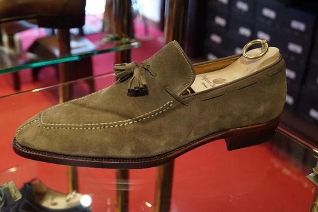 Stefano Bemer suede tassel loafer