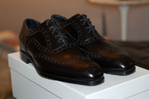 barker black full brogues black