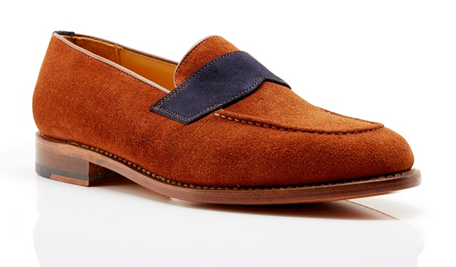 Kimber-Shoes rust suede loafers