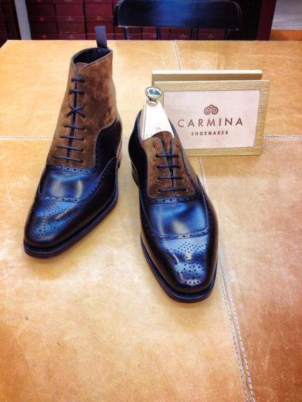Carmina Balmoral Boots and U-Cap Adelaides