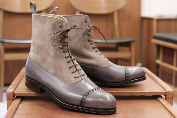 Carmina Grey Balmoral Boots Skoaktiebolaget