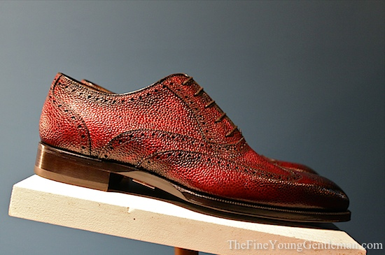 Red Pebble Grain by Scarpe di Bianco