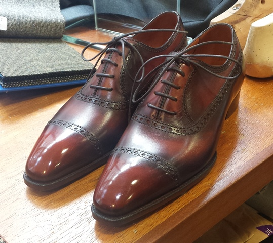 Gaziano & Girling Deco cap toe oxford