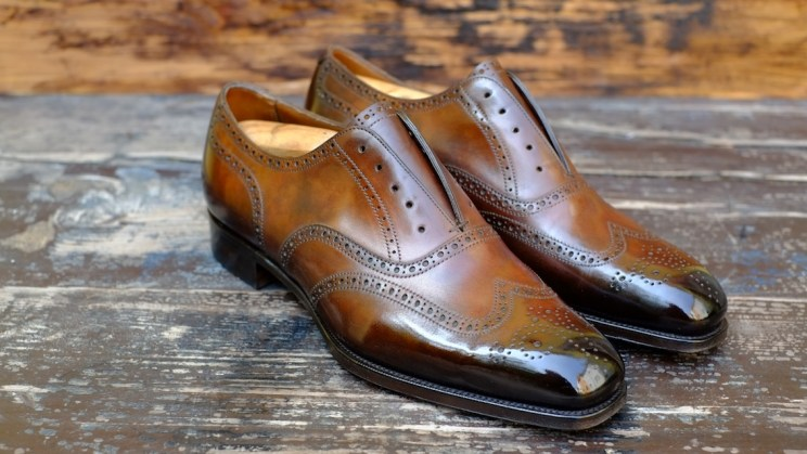 Dandy Shoe Care patina full brogue