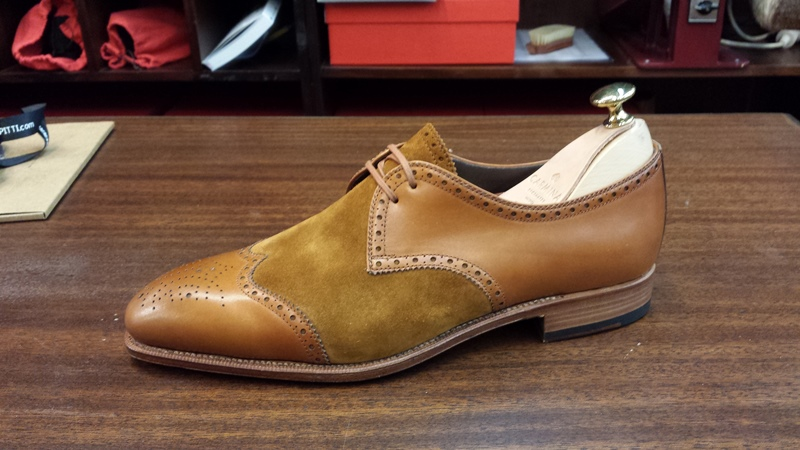 Carmina Shoes two toned derby brogues