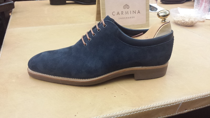 Carmina shoes blue wholecuts
