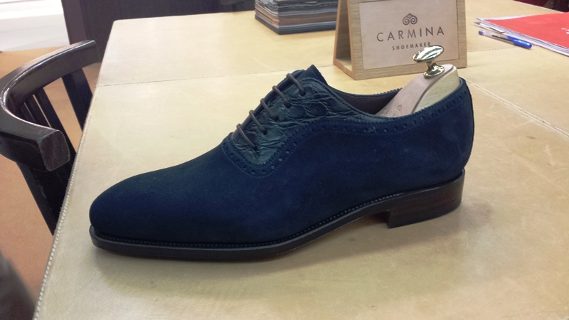 carmina shoes blue suede adelaide