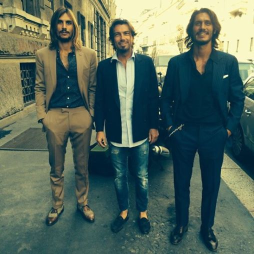 Filippo in the middle, Sergio on left, Sebastiano on right