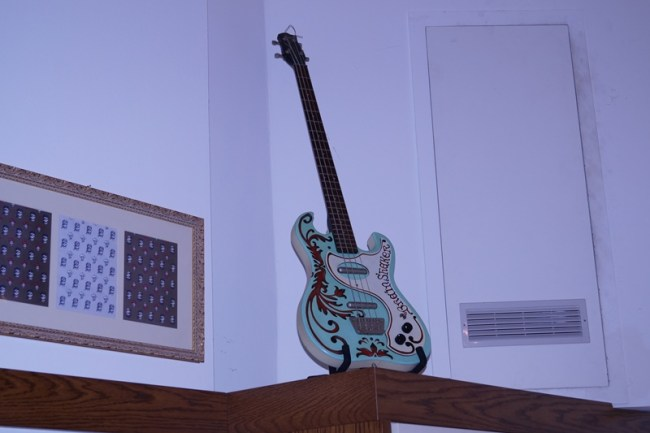 One of Sergio's old guitars