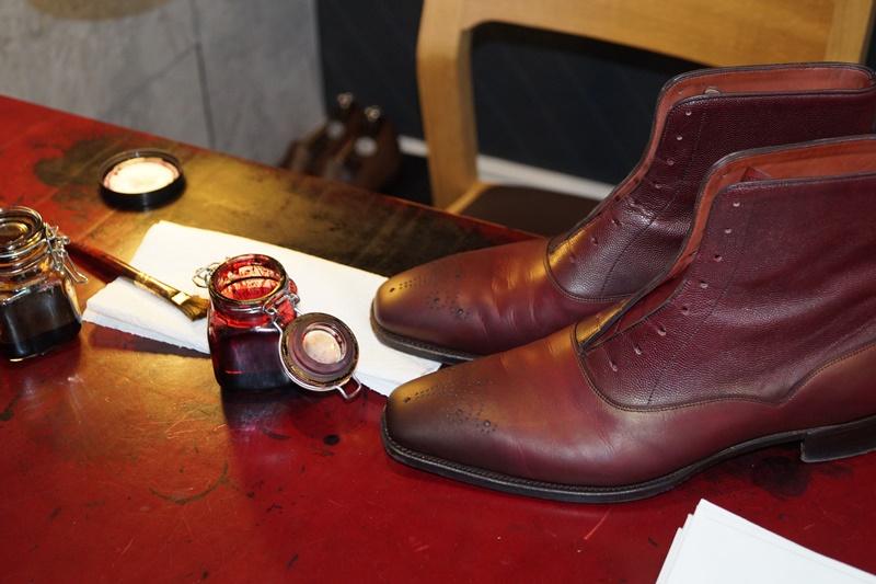 A boot in progress