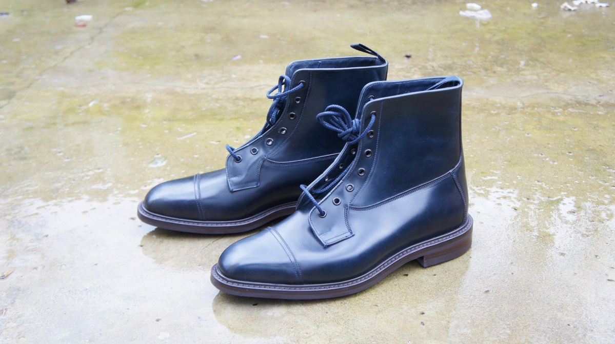 Navy Shell Cordovan By Trickers The Shoe Snob Blog