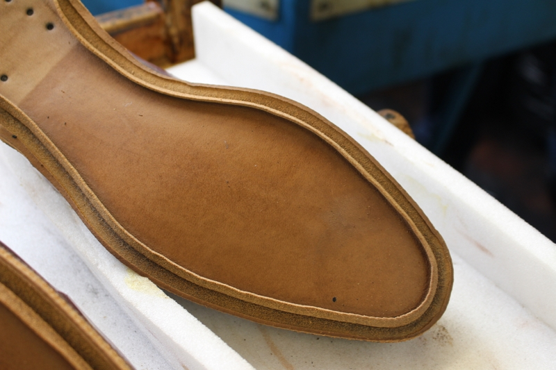 The making of a closed channel, photo courtesy of readsfootwear.co.uk