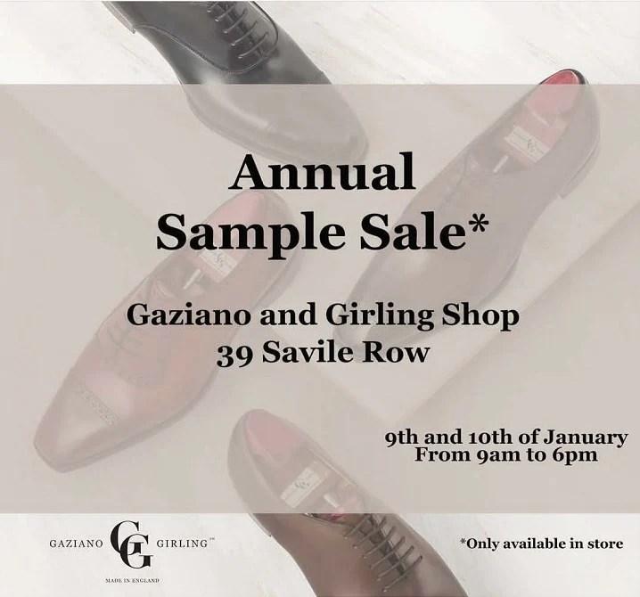 Gaziano \u0026 Girling - 2019 Sample Sale