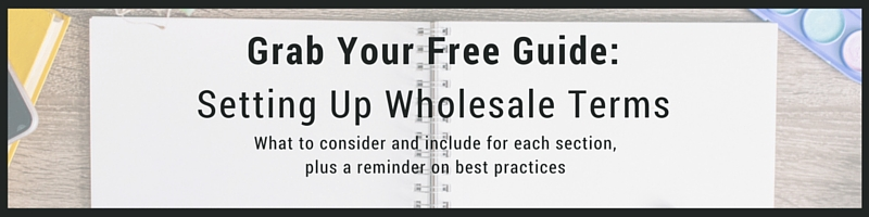free guide on setting retail wholesale terms