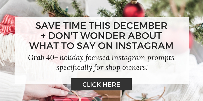 holiday Instagram prompts - caption ideas what to say on Instagram for shopping