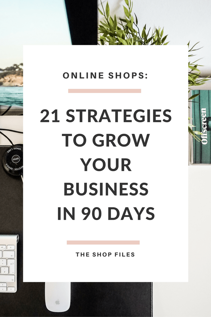 Grow your Business in 90 Days: 21 strategies to grow your business by setting a strong foundation, marketing strategies, improving your shop and focusing your social media strategies