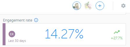 Increase Instagram engagement rate - The Shop Files is above average at 14.3% due to the right hashtag strategy
