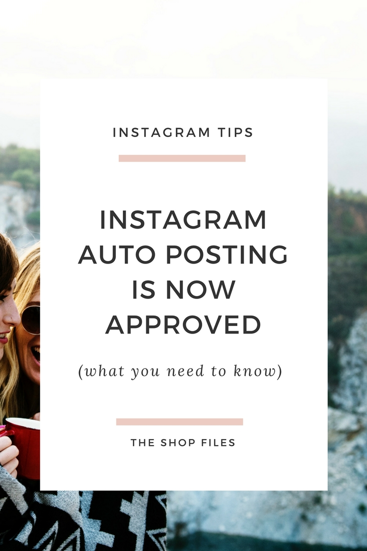 "Instagram now allows automatic posting! If you've been scheduling your posts you know this means no more ""notifications"" to post, but there's also a few more considerations before going completely on auto-pilot with Instagram auto posting"