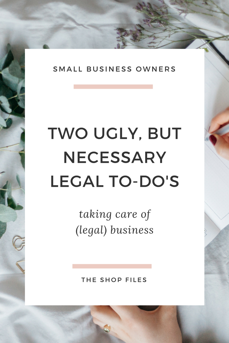 Is your small business legally protected_ Two legal to-do's I'm checking off this month to keep myself protected and my business healthy