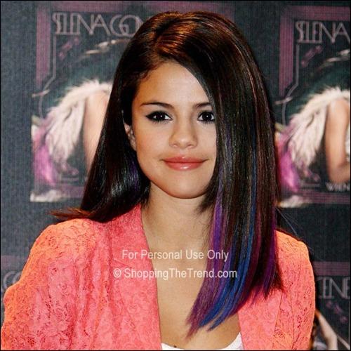 Selena Gomez Blue Amp Purple Dip Dyed Hair Chic Amp Sleek