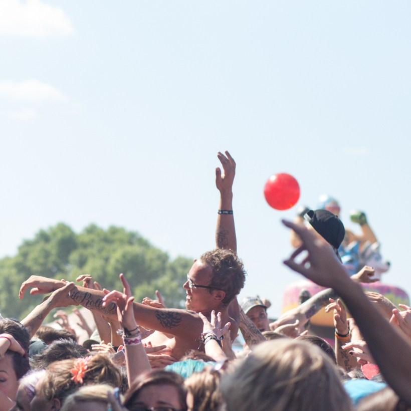 Crowdsurfers during ABR Photo: Tanner Morris
